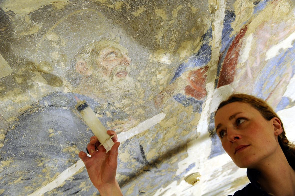Freska v Místodržitelském paláci potřebuje zrestaurovat