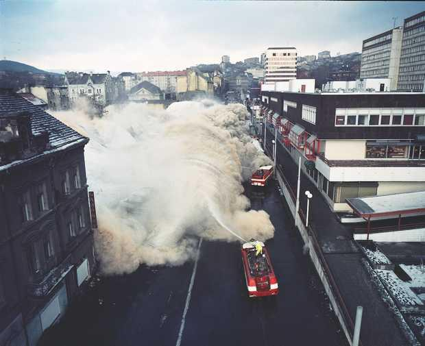 Plošné demolice v centru Ústí na konci 80. let