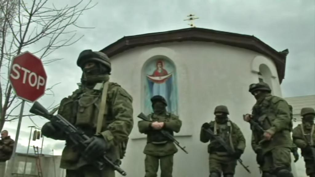 Ozbrojenci na krymských ulicích