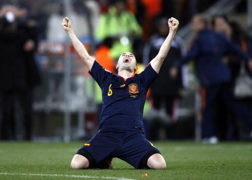 Andres Iniesta - střelec jediného gólu finále