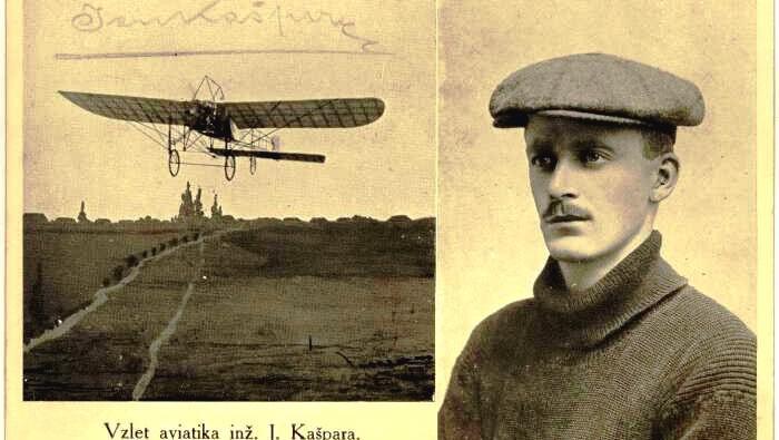 Let Jana Kašpara z Pardubic do Prahy