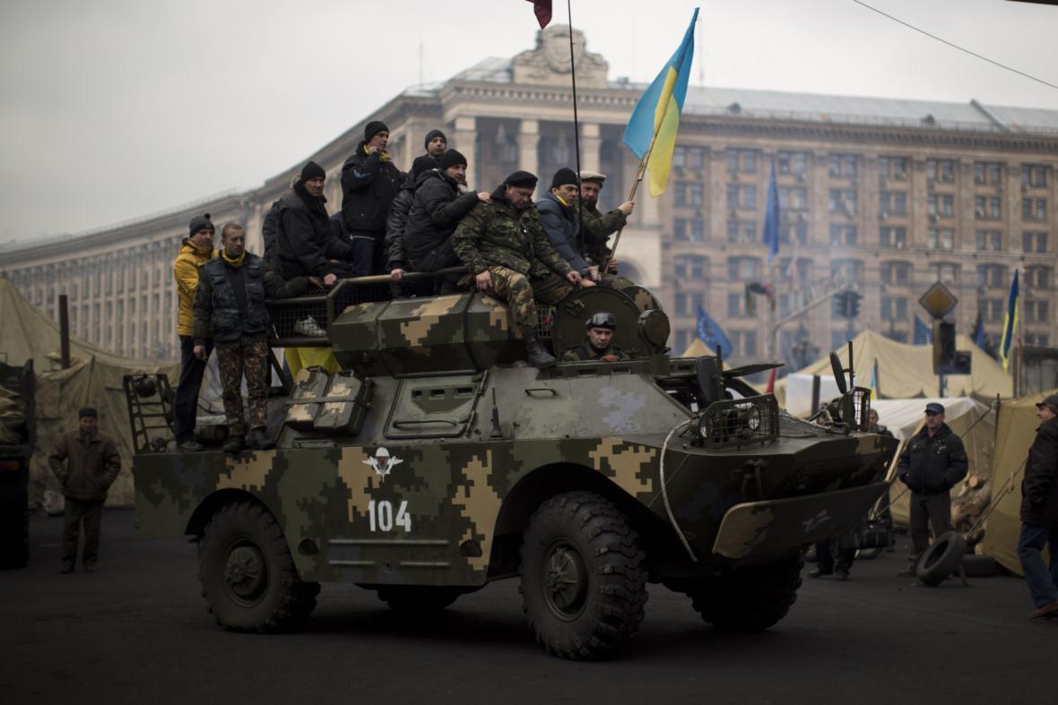 Odpůrci Janukovyče v Kyjevě