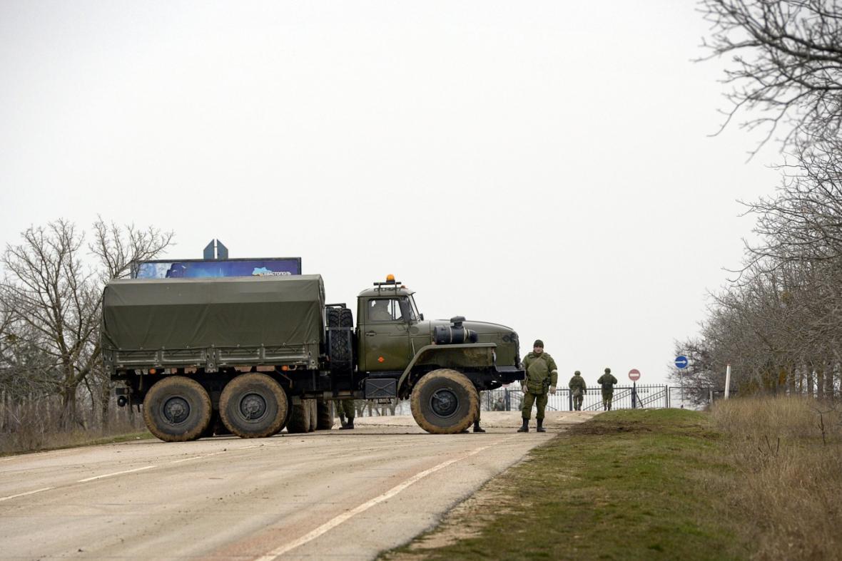 Silniční blokáda na Krymu