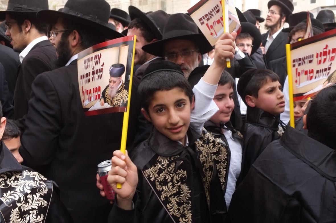 Jeruzalém ochromila demonstrace ultraortodoxních židů