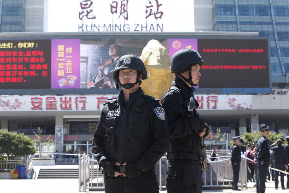 Útok na železniční stanici v Číně
