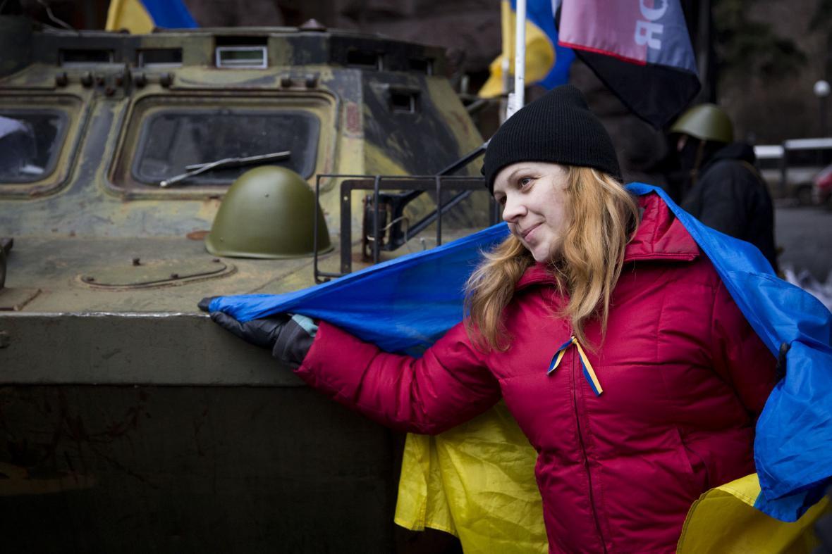 Ukrajinská demonstrantka