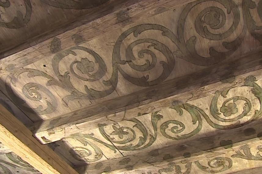 Renesanční strop zdobí obřadní sál