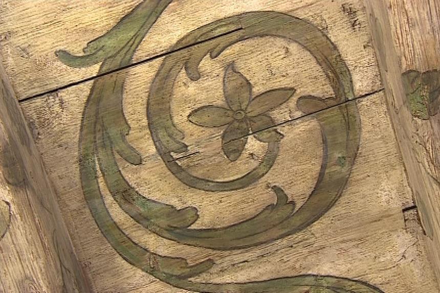 Malovaný strop přečkal 400 let