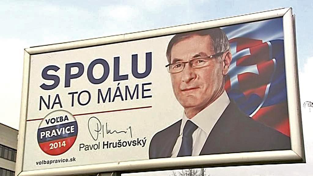 Předvolební kampaň Pavola Hrušovského