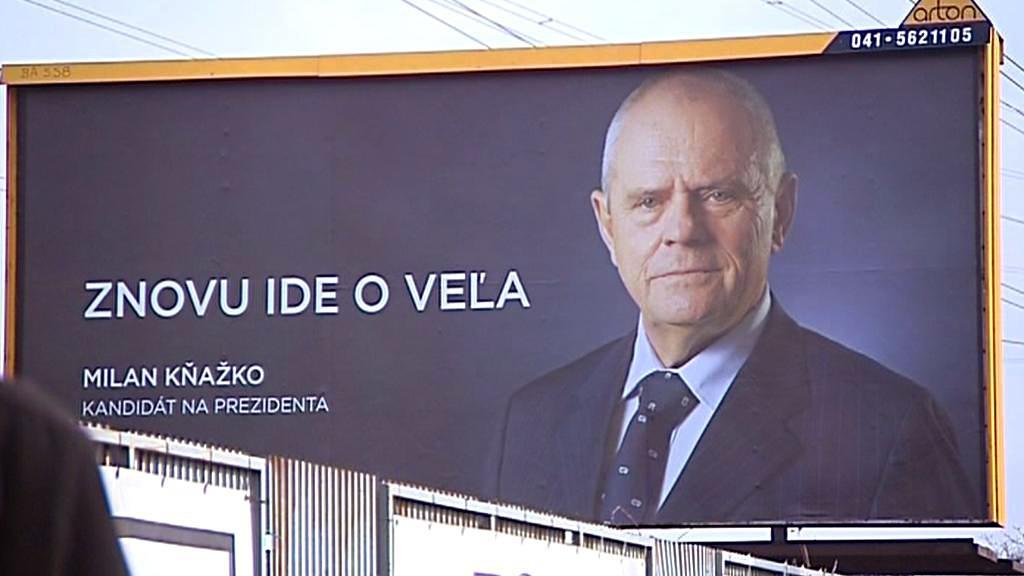 Předvolební kampaň Milana Kňažka