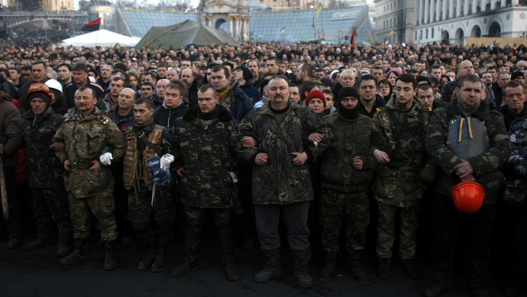 Demonstranti neopouštějí Majdan ani po zdánlivém vyřešení sporů