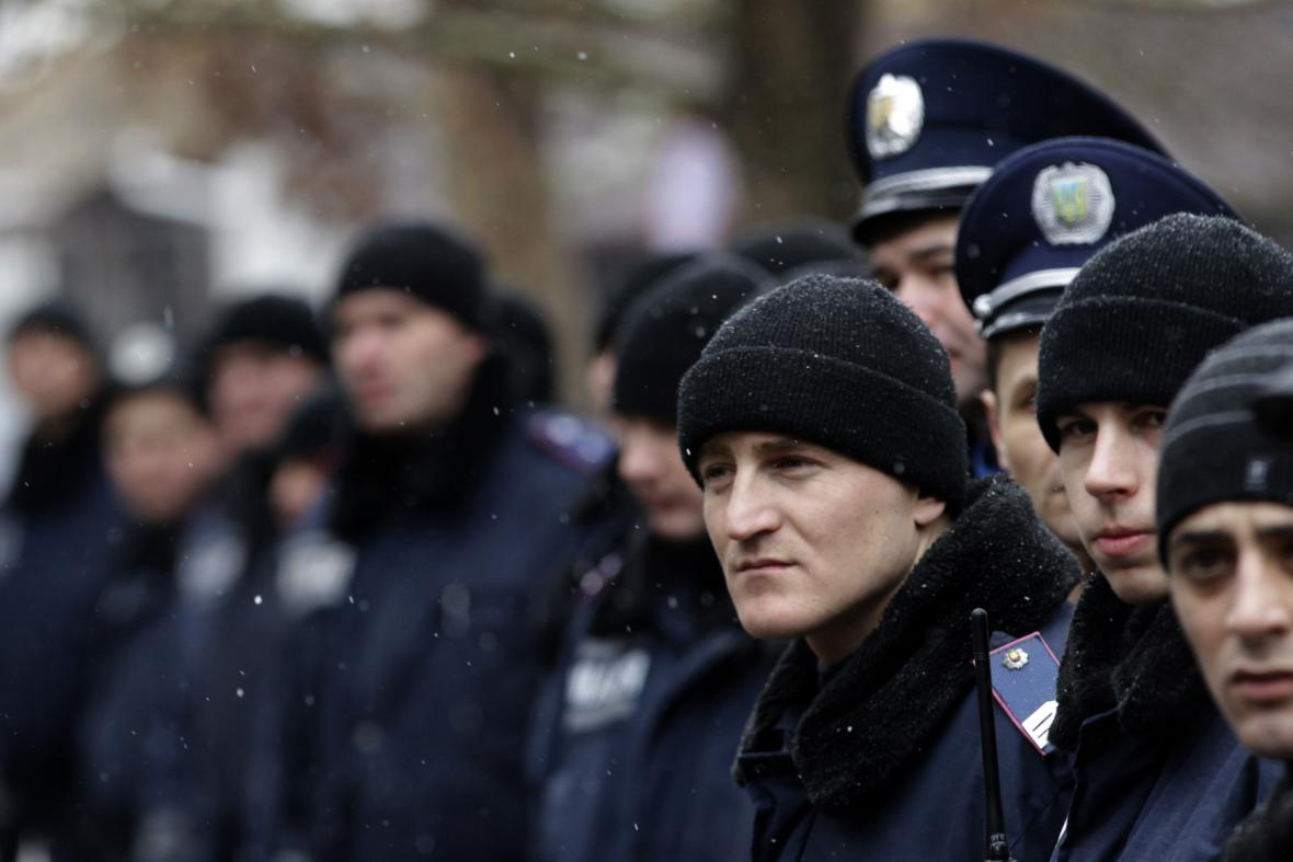 Ukrajinská policie v Simferopolu