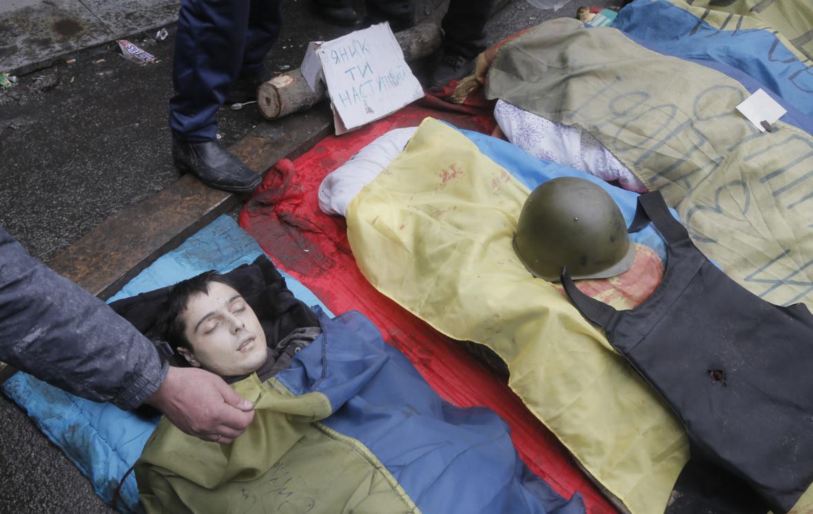 Oběť protestů na náměstí Nezávislosti