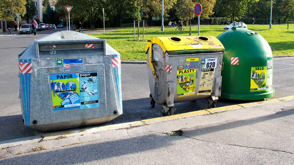 Popelnice na tříděný odpad