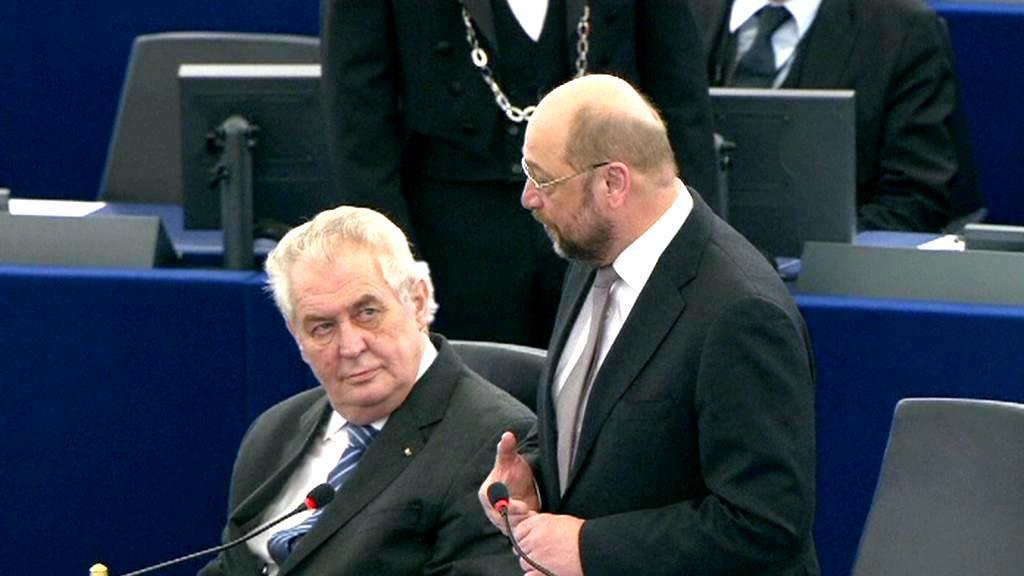 Miloš Zeman a předseda Evropského parlamentu Martin Schulz