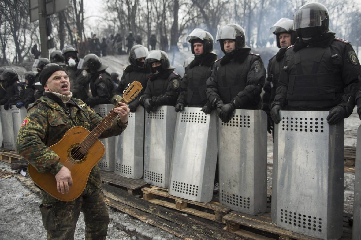 Protivládní protesty na Ukrajině