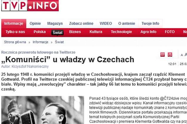 Únor 1948: Média o sociálních sítích ČT