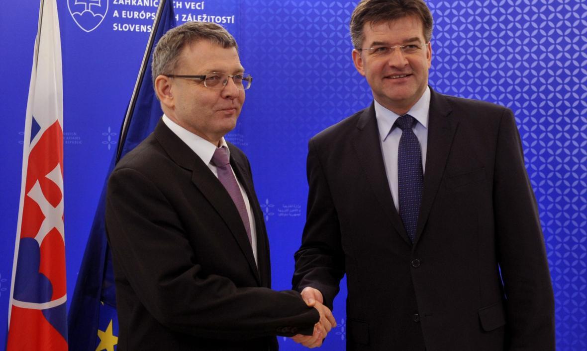 Lubomír Zaorálek a Miroslav Lajčák