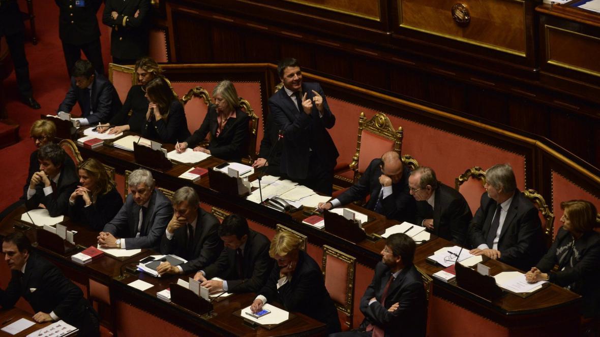 Matteo Renzi v italském senátu