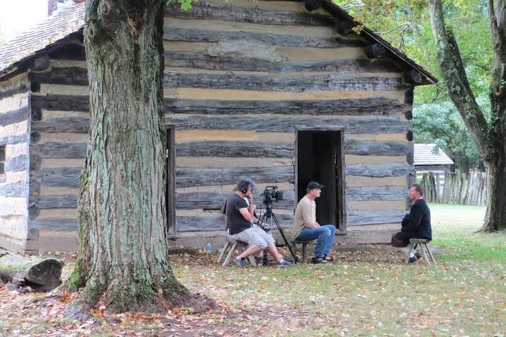 Natáčení dokumentu ve skanzenu Schoenbrunn v Ohiu