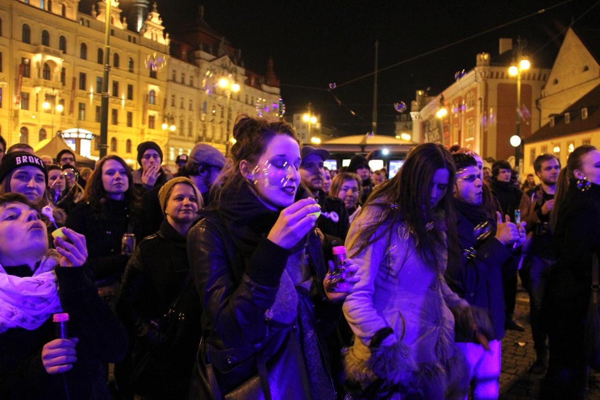 Z koncertu Praha pro Kyjev