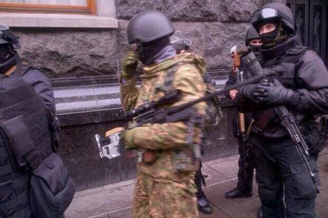 Policejní snajpři v Kyjevě