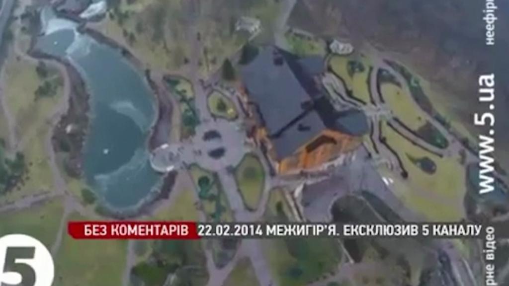 Janukovyčova rezidence z výšky