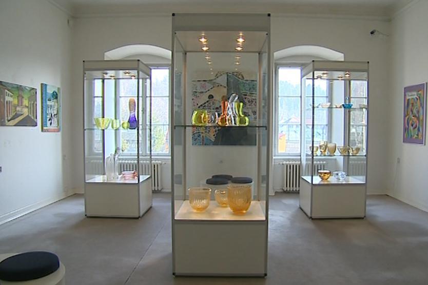 Výstava studentů valašskomeziříčské sklářské školy