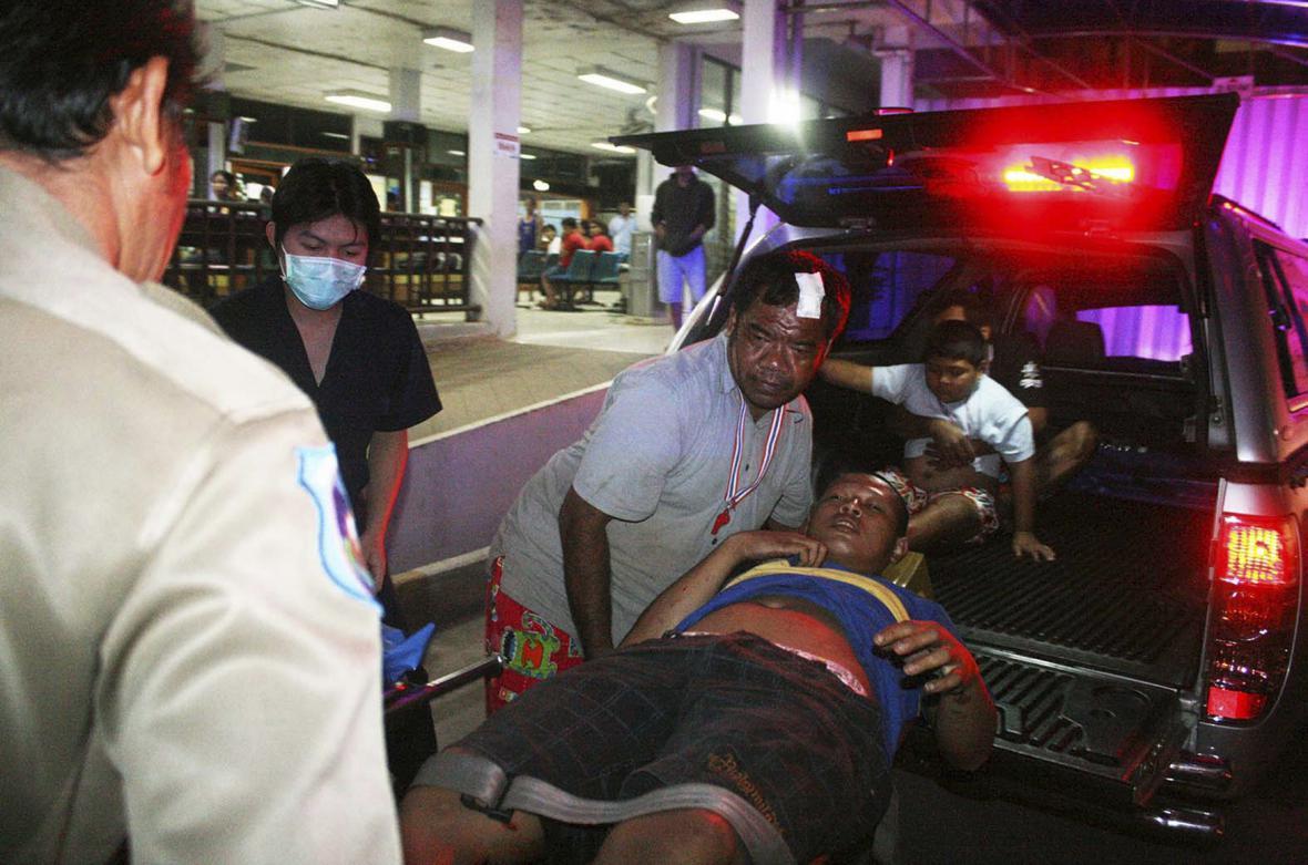 Demonstranti zranění v thajské provincii Trát