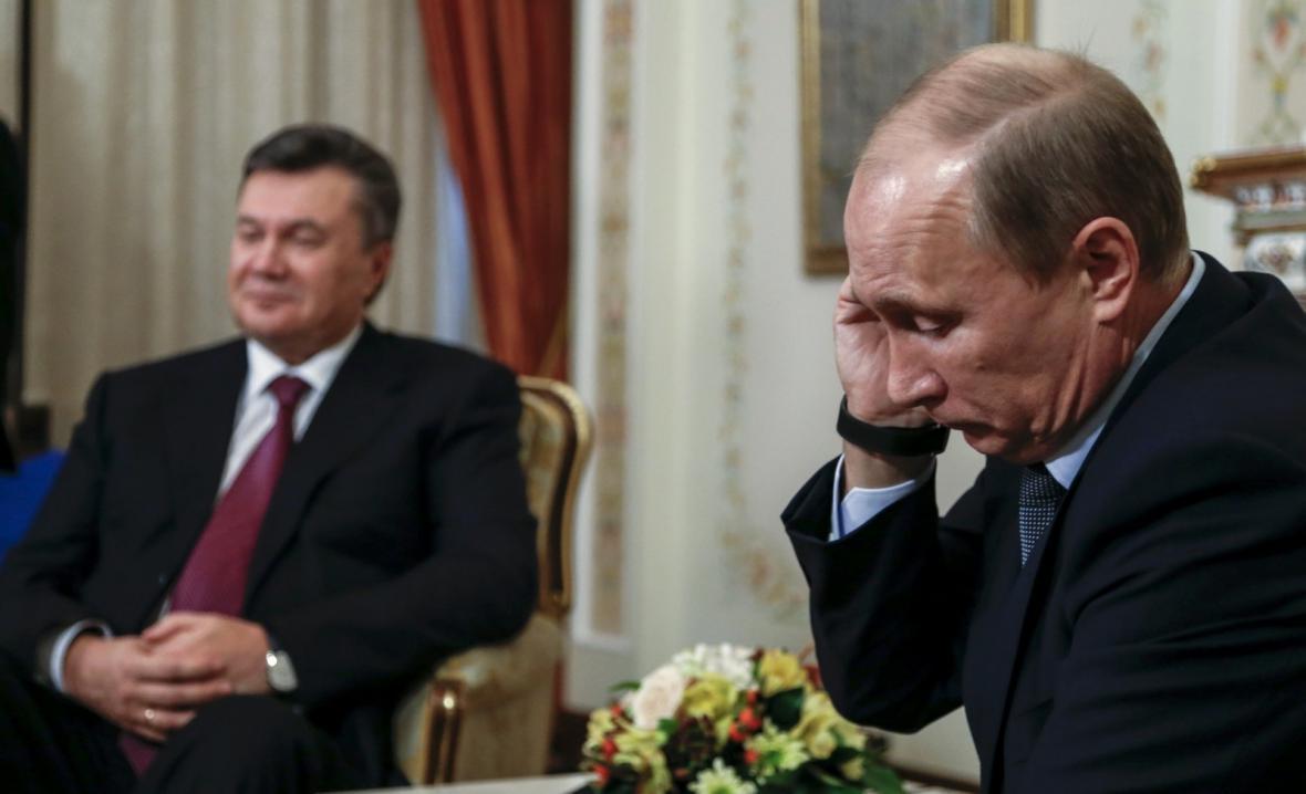 Viktor Janukovyč a Vladimir Putin