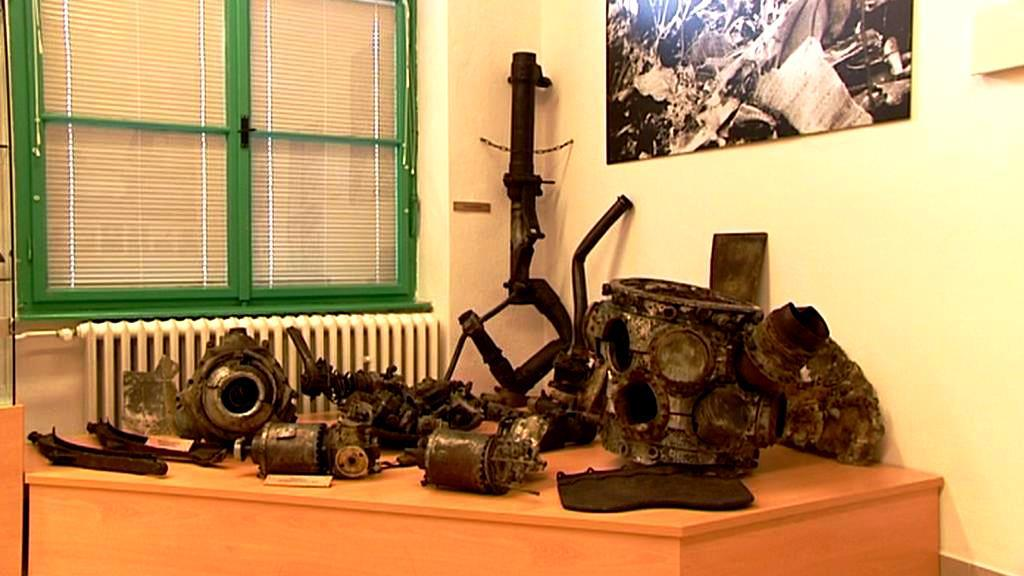 Expozice B-24 Liberator v nepomuckém muzeu