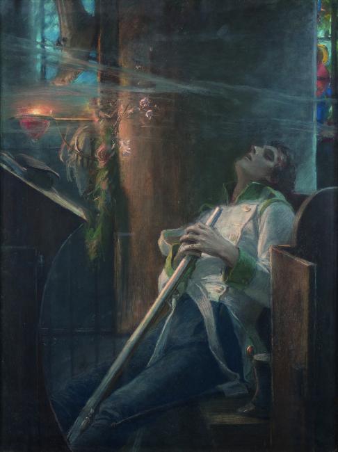 Maxmilián Pirner, K smrti (z cyklu Démon láska), 1883-1884