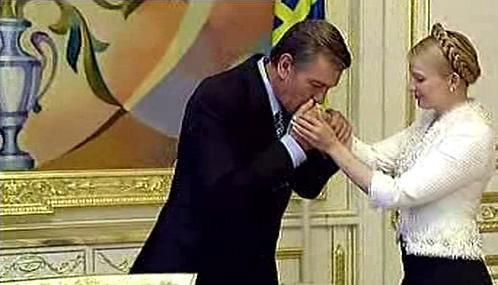 Viktor Juščenko a Julija Tymošenková