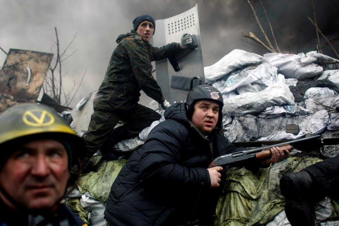Pouliční válka v ulicích Kyjeva