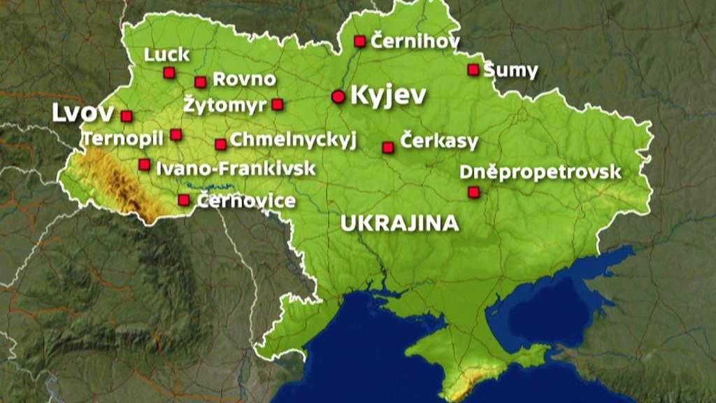 Ukrajinská města zasažená nepokoji