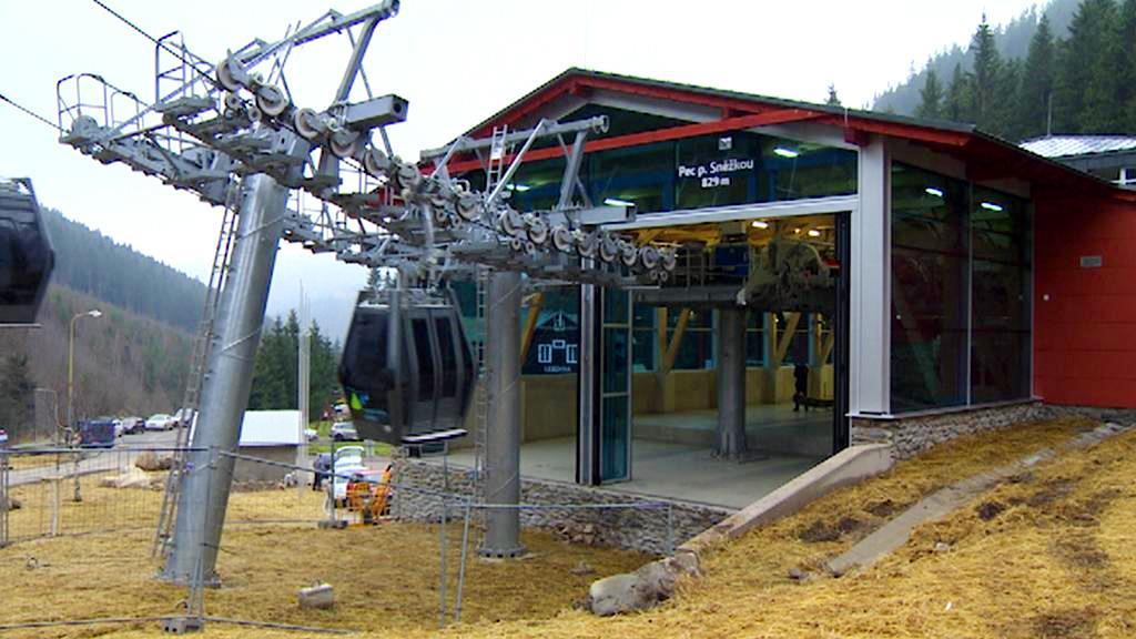 Dolní stanice lanovky na Sněžku