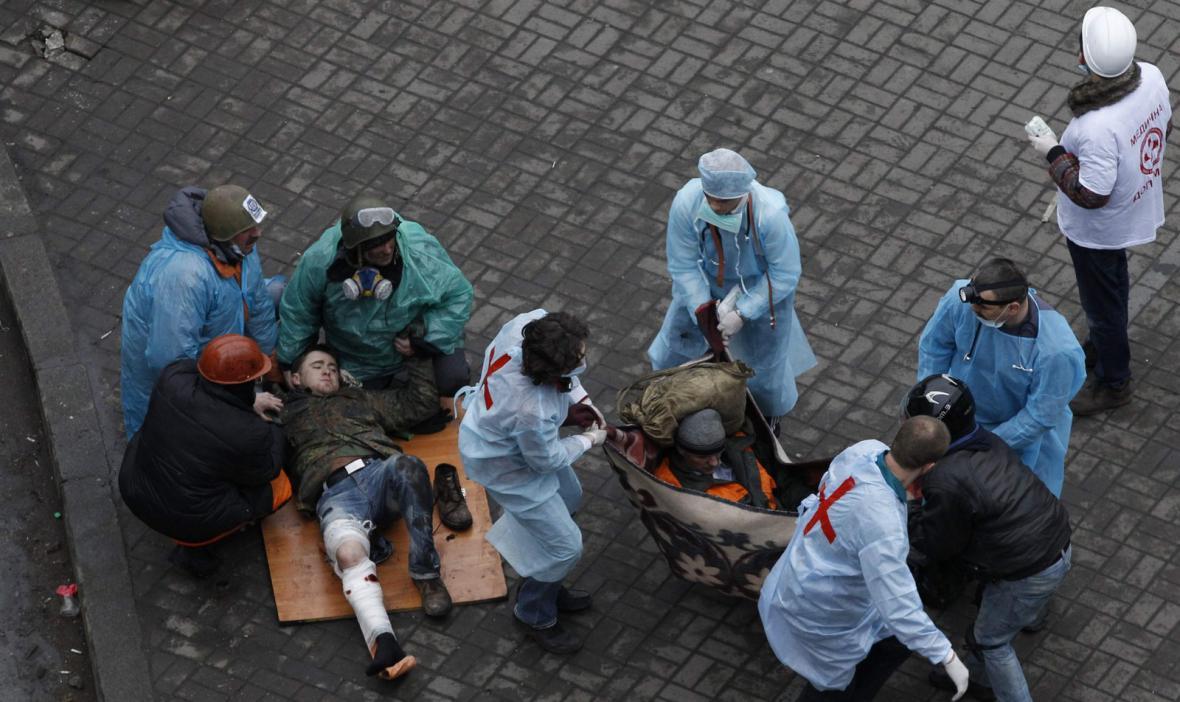Pouliční boje v centru Kyjeva