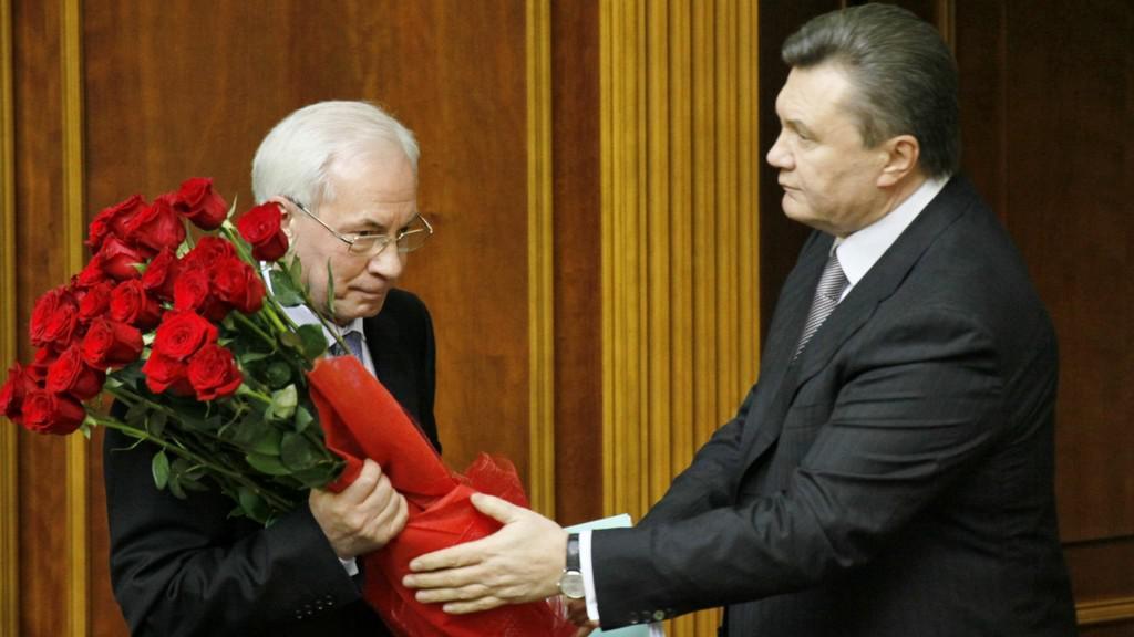 Mykola Azarov a Viktor Janukovyč