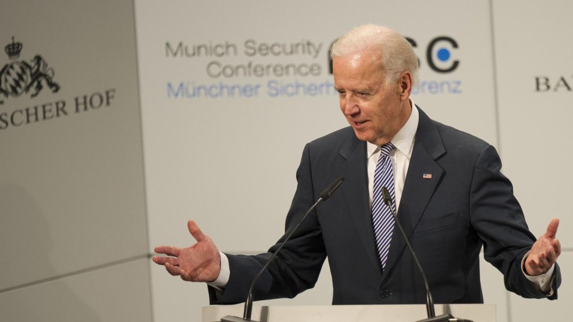 Joseph Biden na konferenci v Mnichově