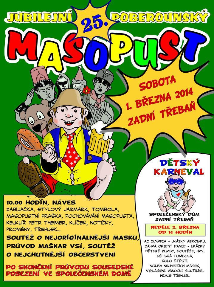 Poberounský masopust - plakát