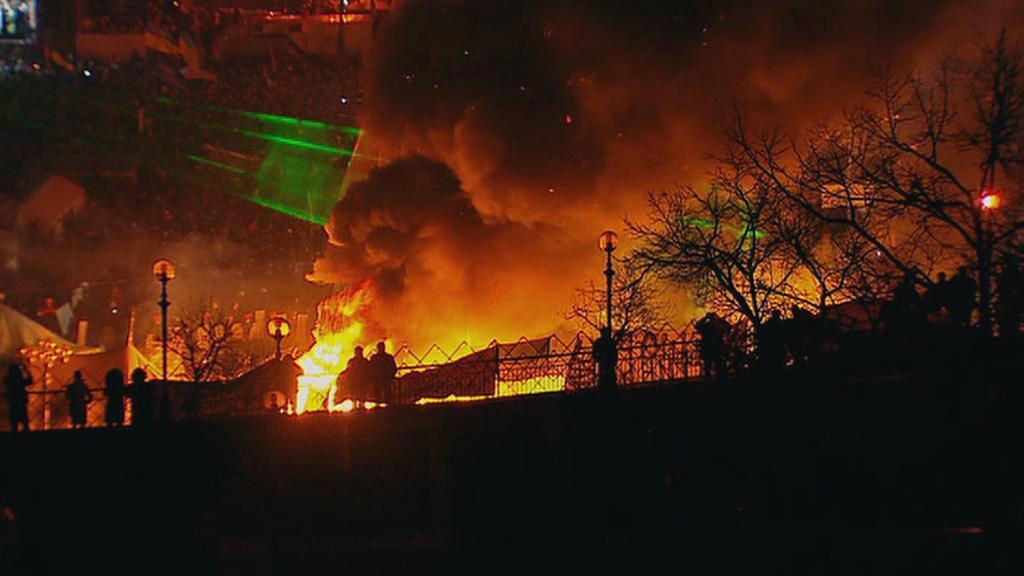 Eskalace násilí v Kyjevě