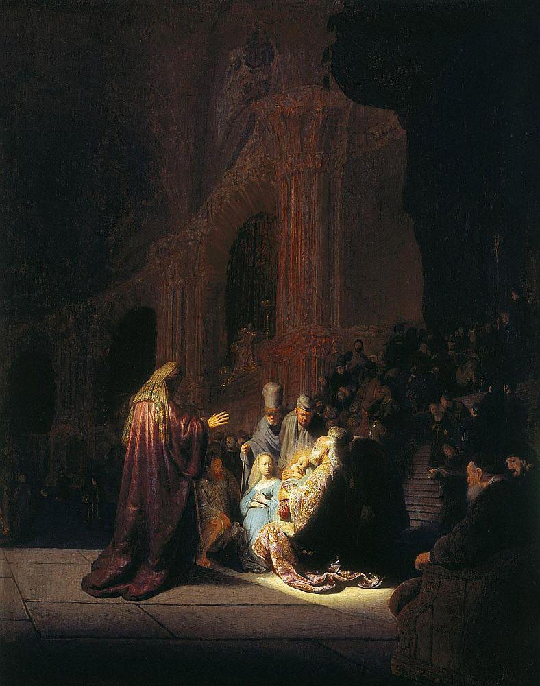 Rembrandt van Rijn / Simeon's Song of Praise (1669)