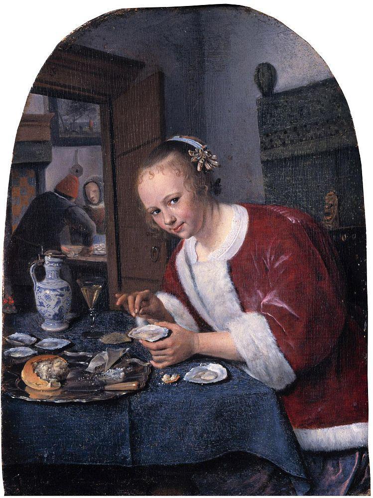 Jan Steen / Dívka s ústřicemi (1658-1660)