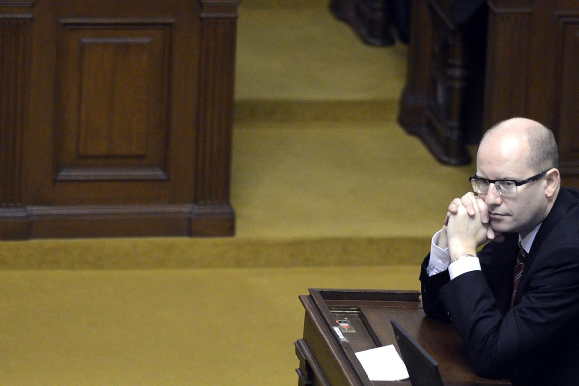 Bohuslav Sobotka (ČSSD) ve sněmovně
