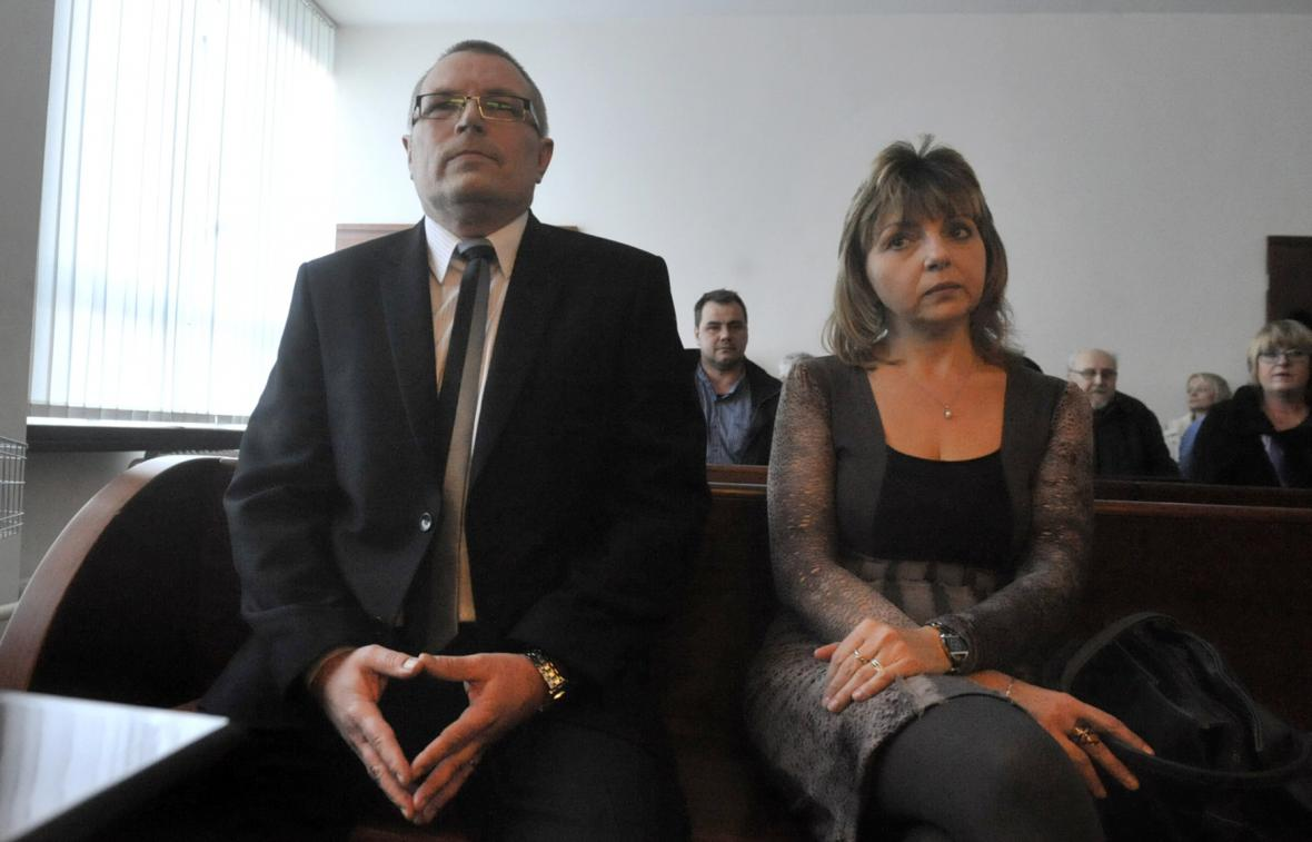 Obžalovaní Jan Martyčák a Alena Orlivová