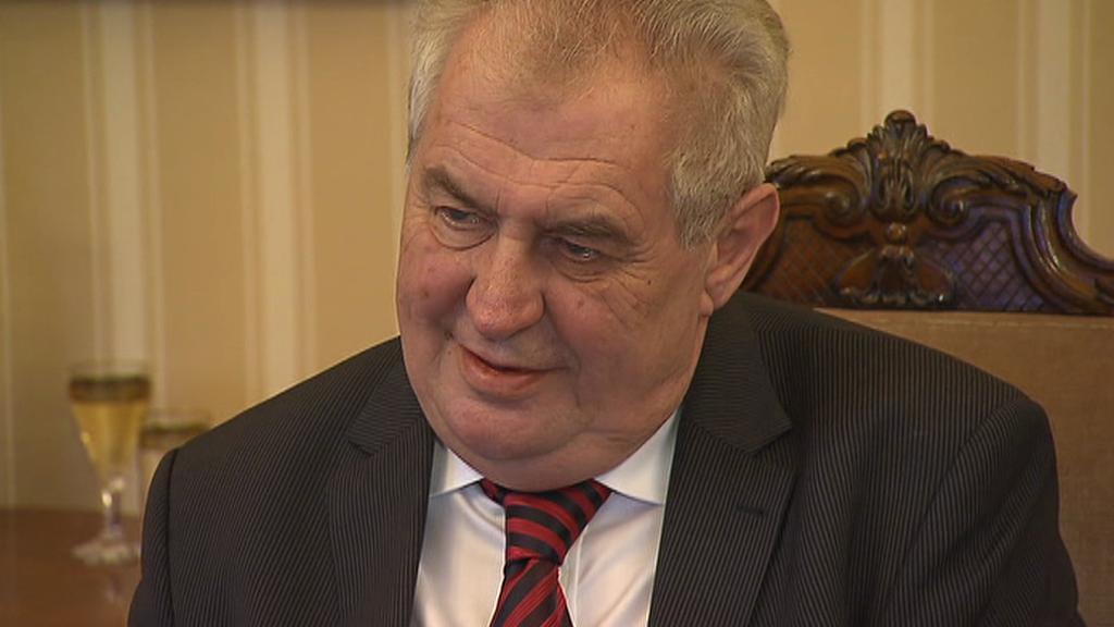 Miloš Zeman při Hovorech z Lán
