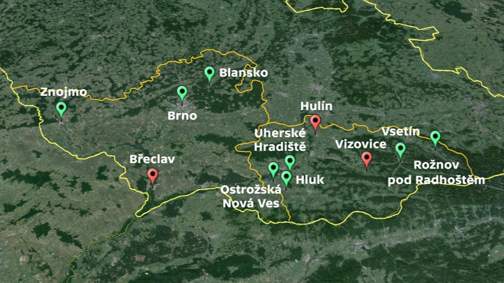 Mapa měst, které poskytují půjčky svým občanům