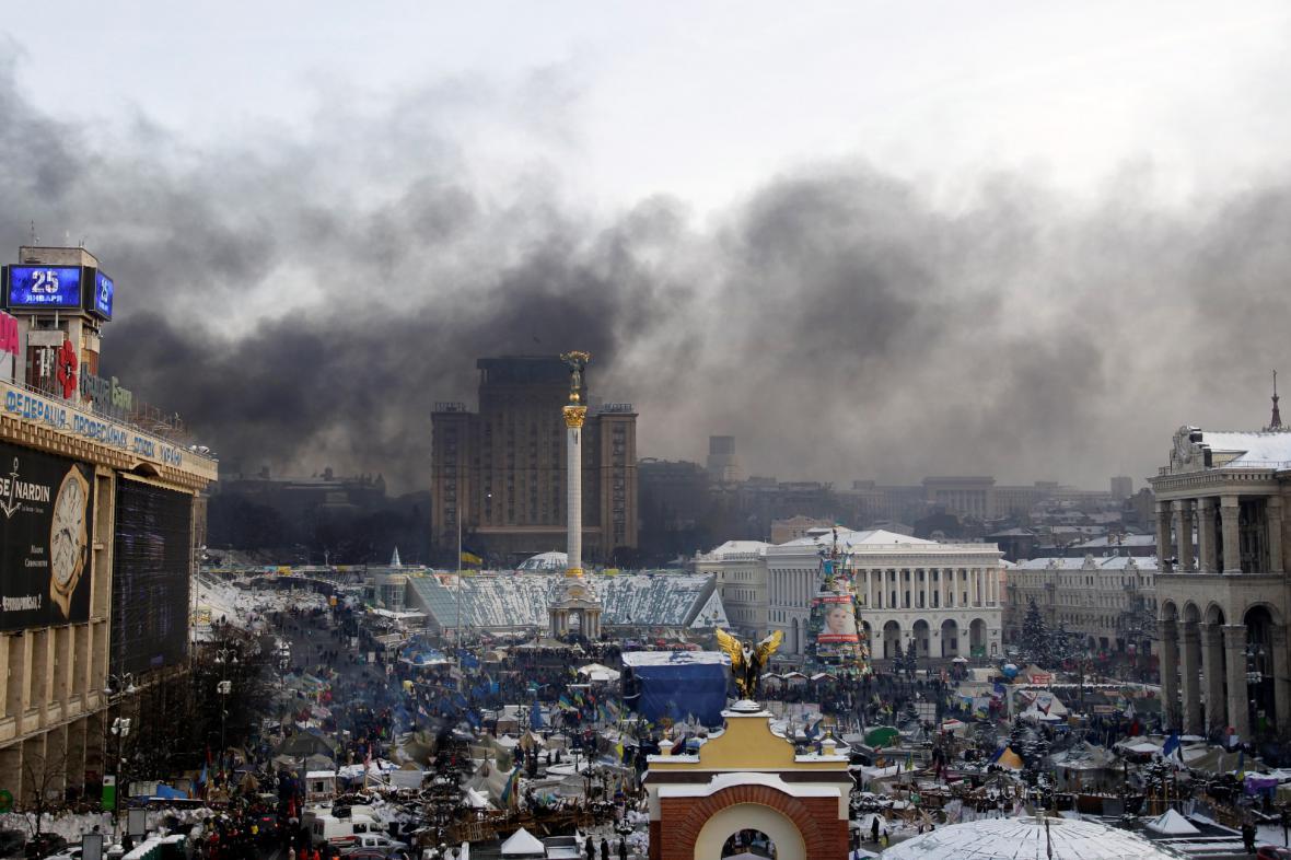 Protesty na kyjevském náměstí Nezávislosti