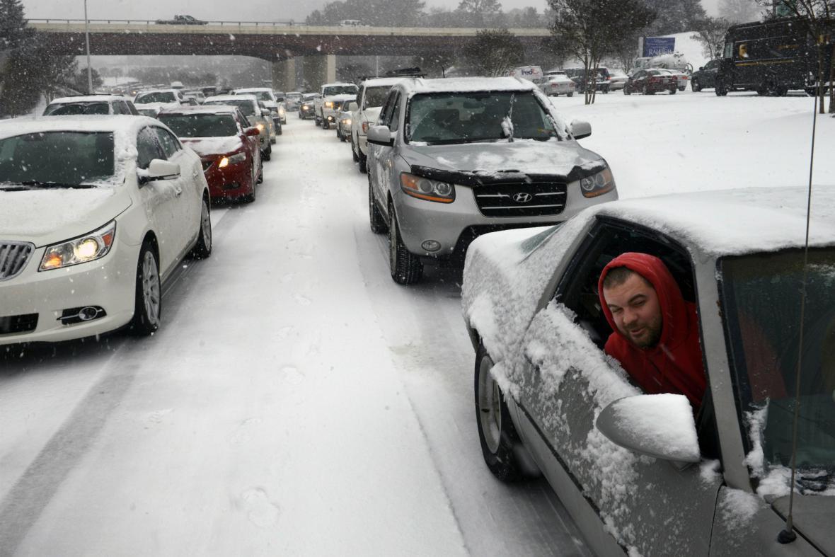 Sníh a mráz v USA