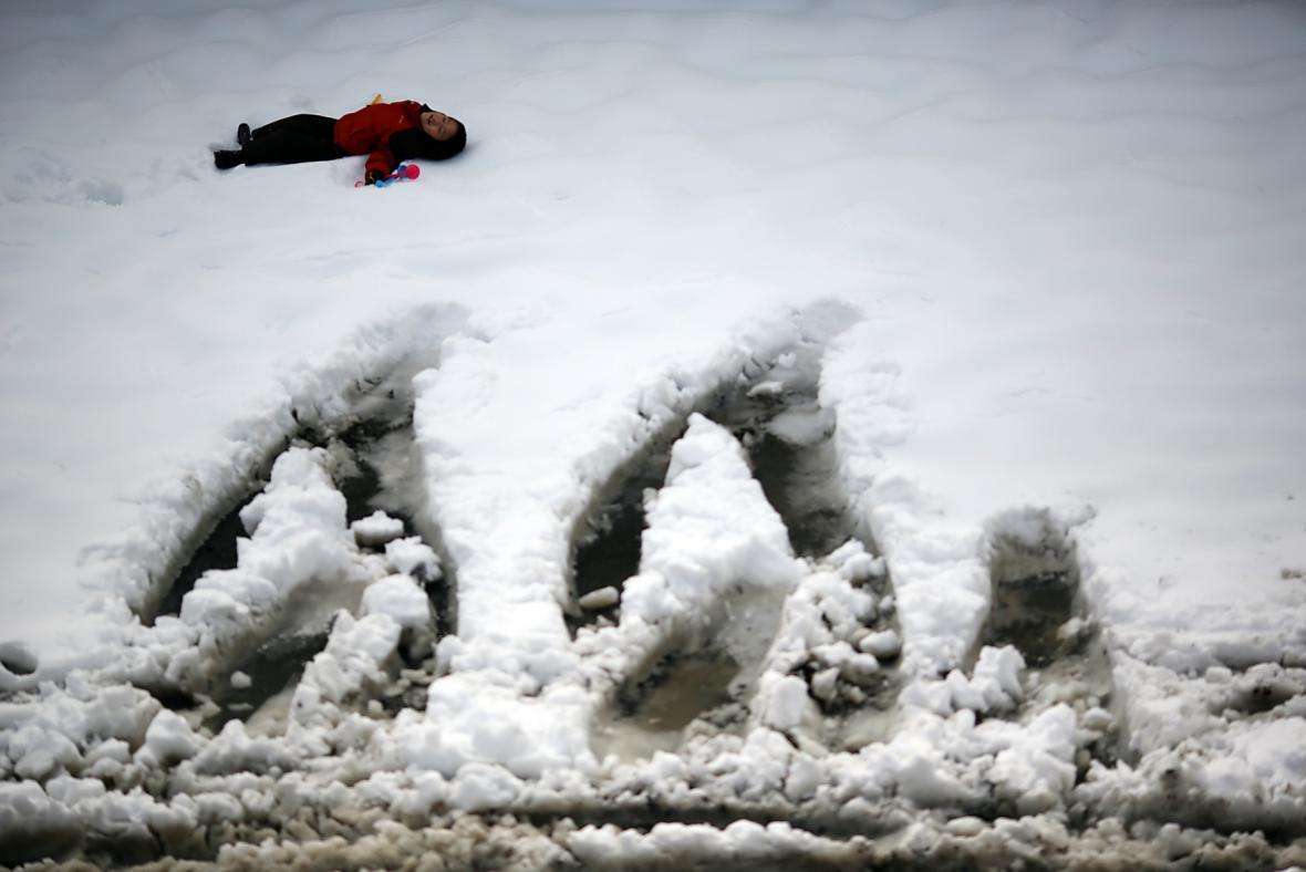 Sníh zasypal i Japonsko